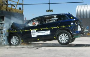 2009 Mazda CX-9 4-DR.w/SAB after frontal crash test