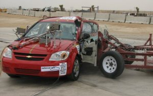 NCAP 2009 Chevrolet Cobalt side crash test photo