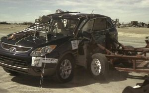 NCAP 2009 Hyundai Veracruz side crash test photo