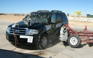NCAP 2009 Ford Expedition side crash test photo
