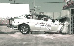 NCAP 2009 Infiniti G37 front crash test photo