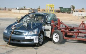 NCAP 2009 Infiniti G37 side crash test photo