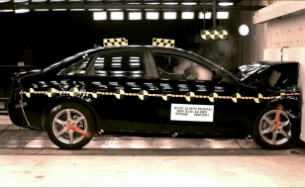 NCAP 2009 Audi A4 front crash test photo
