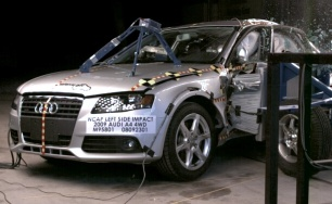 NCAP 2009 Audi A4 side crash test photo