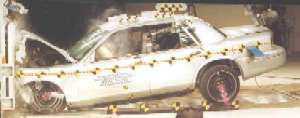 NCAP 2010 Ford Crown Victoria front crash test photo
