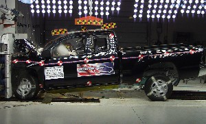 NCAP 2010 Toyota Tacoma front crash test photo