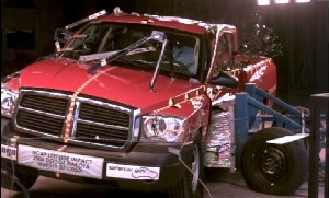 NCAP 2010 Dodge Dakota side crash test photo