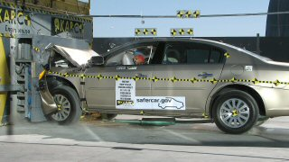 NCAP 2010 Buick Lucerne front crash test photo