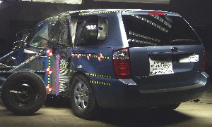 NCAP 2010 Kia Sedona side crash test photo