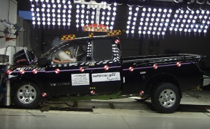 NCAP 2010 Nissan Titan front crash test photo
