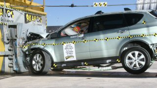 NCAP 2010 Subaru Tribeca front crash test photo