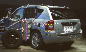 NCAP 2010 Jeep Compass side crash test photo