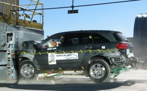 NCAP 2010 Acura MDX front crash test photo
