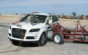NCAP 2010 Audi Q7 side crash test photo
