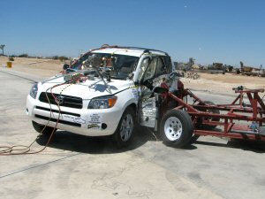 NCAP 2010 Toyota RAV4 side crash test photo