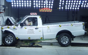 NCAP 2010 Ford Ranger front crash test photo