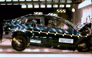 NCAP 2010 Ford Focus front crash test photo