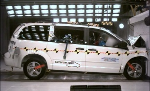 NCAP 2010 Dodge Grand Caravan front crash test photo