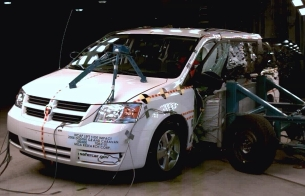 NCAP 2010 Dodge Grand Caravan side crash test photo