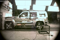 NCAP 2010 Jeep Liberty front crash test photo