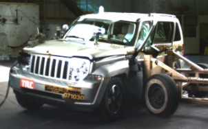 NCAP 2010 Jeep Liberty side crash test photo