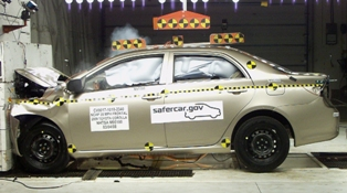 2010 Toyota Corolla 4-DR. w/SAB after frontal crash test
