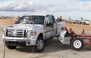 NCAP 2010 Ford F-150 side crash test photo