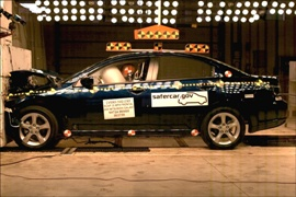 NCAP 2010 Mitsubishi Galant front crash test photo