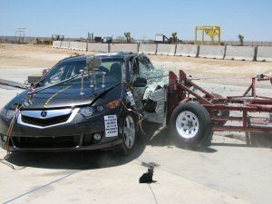 NCAP 2010 Acura TSX side crash test photo
