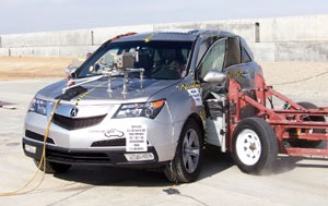 NCAP 2010 Acura MDX side crash test photo