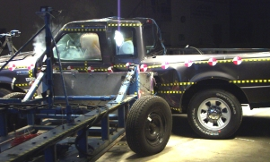 NCAP 2010 Ford Ranger side crash test photo