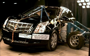 NCAP 2010 Cadillac SRX side crash test photo