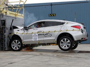 NCAP 2010 Acura ZDX front crash test photo