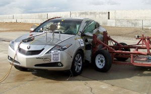 NCAP 2010 Acura ZDX side crash test photo