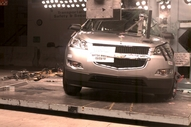 NCAP 2011 Chevrolet Traverse side pole crash test photo