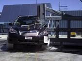 NCAP 2011 Subaru Outback side pole crash test photo