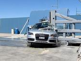 NCAP 2011 Audi A4 side pole crash test photo