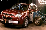 2011 Chevrolet Equinox SUV AWD after side crash test