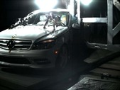 2011 Mercedes-Benz C-Class 4 DR RWD after side pole crash test
