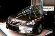 NCAP 2011 Honda Accord side pole crash test photo