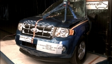 2011 Ford Escape SUV 4x4 after side pole crash test