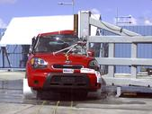 NCAP 2011 Kia Soul side pole crash test photo
