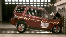 2011 Ford Escape SUV 4x4 after frontal crash test