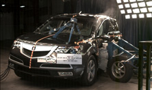 2011 Acura MDX SUV AWD after side crash test