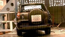 NCAP 2011 Toyota RAV4 side pole crash test photo