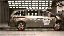 NCAP 2011 Honda Odyssey front crash test photo