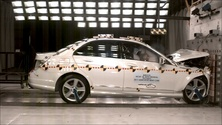 2011 Mercedes-Benz C-Class 4 DR RWD after frontal crash test