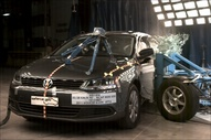 2011 Volkswagen Jetta 4 DR FWD after side crash test