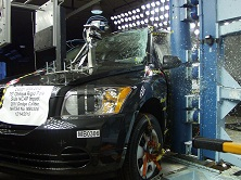 NCAP 2011 Dodge Caliber side pole crash test photo