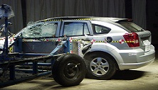 NCAP 2011 Dodge Caliber side crash test photo